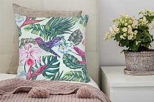 3D Подушка «Колибри с цветами» вид 2