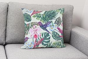3D Подушка «Колибри с цветами» вид 4