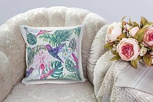 3D Подушка «Колибри с цветами» вид 7