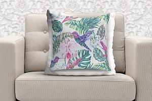3D Подушка «Колибри с цветами» вид 9