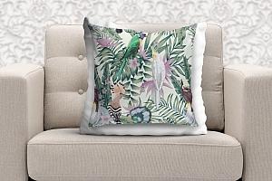 3D Подушка «Райские птицы в саду» вид 9