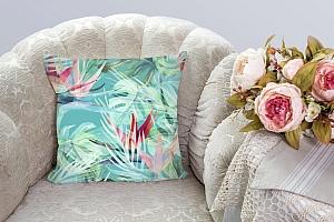 3D Подушка «Гавайские цветы» вид 3