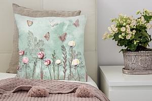 3D Подушка «Бабочки в саду» вид 3