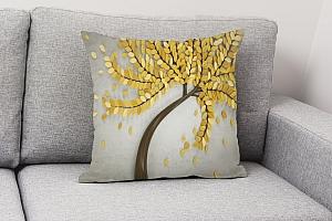 3D Подушка «Осеннее дерево» вид 4