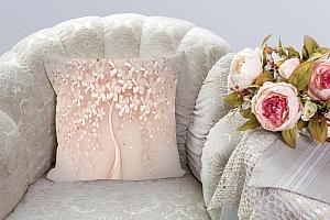 3D Подушка «Безмятежный сад» вид 3