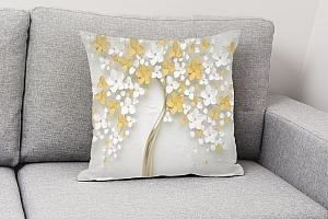 3D Подушка «Листья в золоте» вид 4