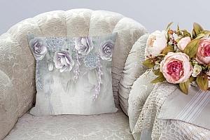 3D Подушка «Розы в легком ультрафиолете» вид 3