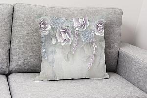 3D Подушка «Розы в легком ультрафиолете» вид 4
