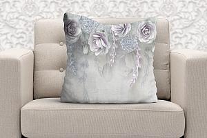 3D Подушка «Розы в легком ультрафиолете» вид 5