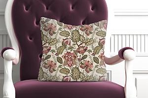 3D Подушка «Старинный цветочный узор» вид 5