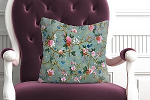 3D Подушка «Викторианский сад в светлых тонах» вид 5