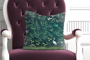 3D Подушка «Цапля в ночном саду» вид 5