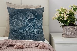 3D Подушка «Вечерние цветы» вид 3