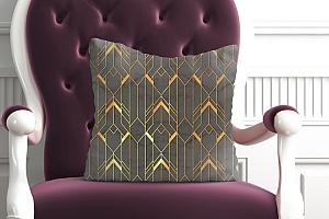 3D Подушка  «Золотые нити» вид 4