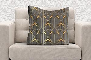 3D Подушка  «Золотые нити»