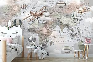 Фотообои «Карта путешествий»