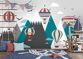 Фотообои «Воздушные шары в горах»