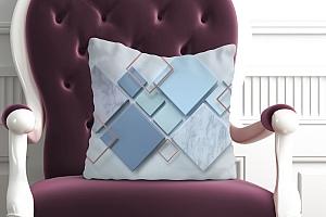 3D Подушка «Объёмные ромбы»