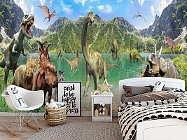 3D Фотообои «Динозавры» вид 5