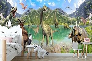 3D Фотообои «Динозавры» вид 4