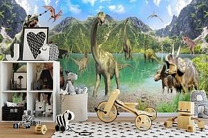 3D Фотообои «Динозавры» вид 2