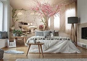 3D Фотообои «Комната вдохновения»