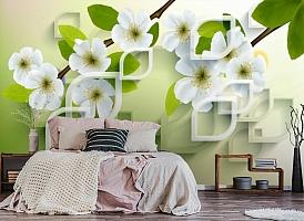 3D Фотообои  «Цветущая сакура» вид 4