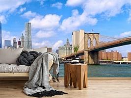 """3D фотообои 3D Фотообои """"Мост города Нью-Йорка"""" вид 12"""