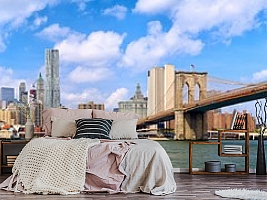 """3D фотообои 3D Фотообои """"Мост города Нью-Йорка"""" вид 13"""