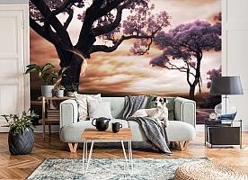 3D Фотообои «Фиолетовые деревья» вид 7