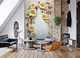 3D Фотообои  «Объемная ваза с цветами»  вид 7