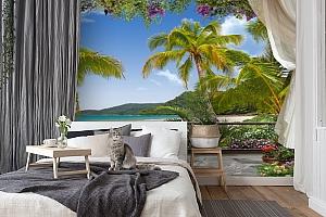 3D Фотообои «Пальмы на берегу океана» вид 7