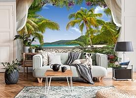 3D Фотообои «Пальмы на берегу океана» вид 6