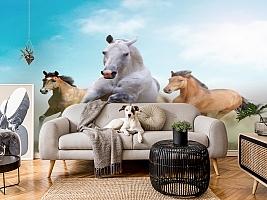 3D Фотообои «Лошади в дикой природе» вид 4
