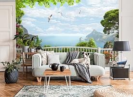 3D Фотообои «Вид на залив с белого балкона» вид 6