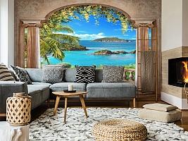 3D Фотообои «Лазурное побережье» вид 5