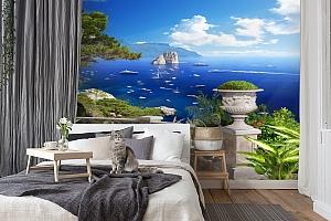 3D Фотообои «Бесконечно синее море» вид 7