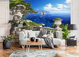 3D Фотообои «Бесконечно синее море» вид 6