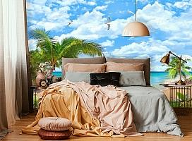 3D Фотообои «Лазурный пляж» вид 4