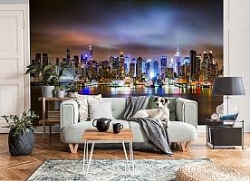 3D Фотообои «Ночной город» вид 3