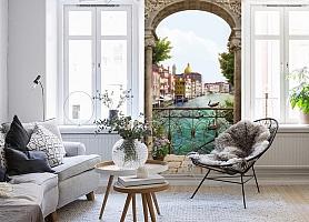 3D Фотообои «Вид на Венецианский канал» вид 4