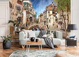 3D Фотообои «Венецианские гондольеры» вид 6