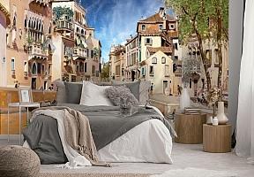 3D Фотообои «Венецианские гондольеры» вид 2