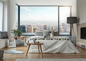 3D Фотообои «Вид из окна на солнечный день в городе» вид 6