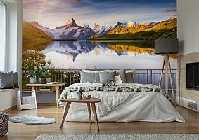 3D Фотообои «Терраса перед горным озером» вид 6