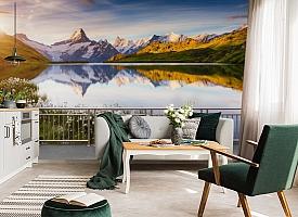 3D Фотообои «Терраса перед горным озером» вид 4