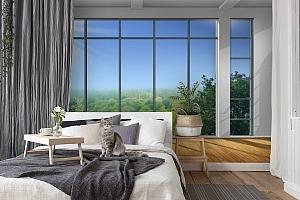 3D Фотообои «Окно с видом на зеленый лес» вид 7