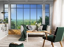 3D Фотообои «Окно с видом на зеленый лес» вид 4