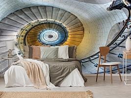 3D Фотообои «Винтажная лестница» вид 3