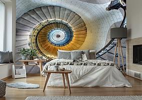 3D Фотообои «Винтажная лестница» вид 2